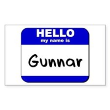 hello my name is gunnar Rectangle Decal