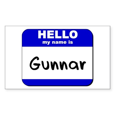hello my name is gunnar Rectangle Sticker