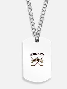 Hockey Girl Dog Tags