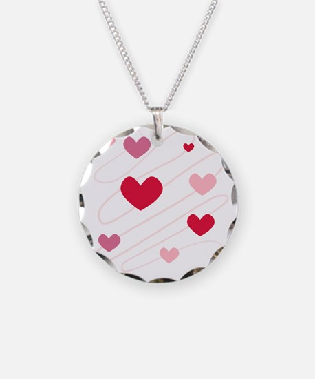Hearts Love Peace Party  Necklace Circle Charm