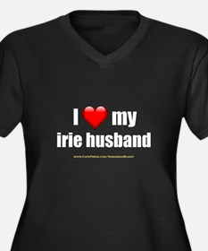 """I Love My Irie Husband"" Women's Plus Size V-Neck"