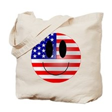 USA Smiley Tote Bag