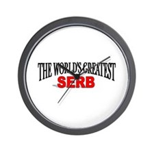 """The World's Greatest Serb"" Wall Clock"