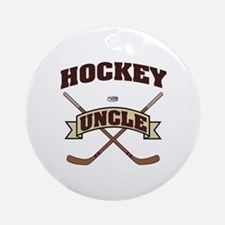 Hockey Uncle Ornament (Round)