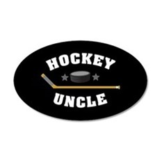 Hockey Uncle 35x21 Oval Wall Decal