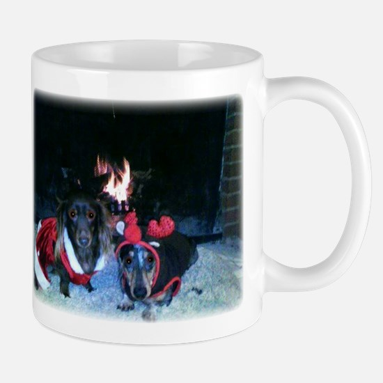 Christmas Dachshund duo Mugs