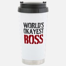 Worlds Okayest Boss Travel Mug
