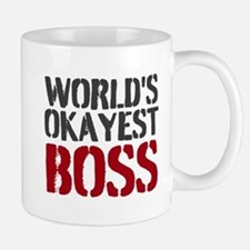 Worlds Okayest Boss Mugs