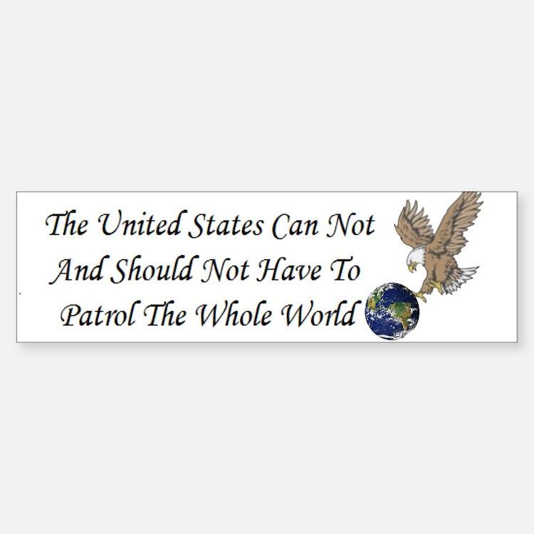 United States Bumper Bumper Bumper Sticker