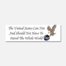 United States Car Magnet 10 X 3