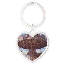 Swing Ride Heart Keychain