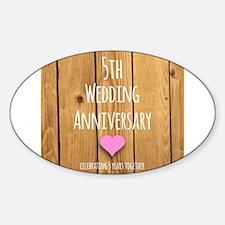 5th Wedding Anniversary Decal