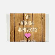 5th Wedding Anniversary Magnets