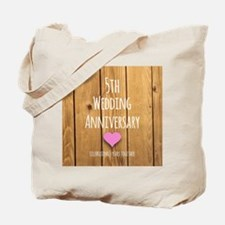 5th Wedding Anniversary Tote Bag
