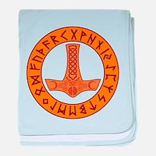 Mjölnir Rune Shield baby blanket