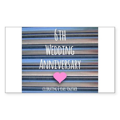 6th Wedding Anniversary Sticker