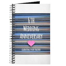 6th Wedding Anniversary Journal