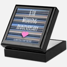 6th Wedding Anniversary Keepsake Box