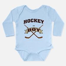 Hockey Boy Long Sleeve Infant Bodysuit