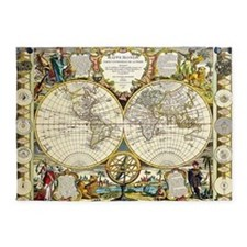 World Map 1755 5'x7'Area Rug