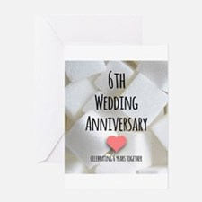 6th Wedding Anniversary Greeting Cards