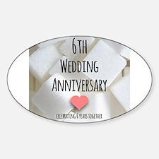 6th Wedding Anniversary Decal