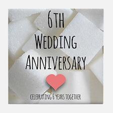 6th Wedding Anniversary Tile Coaster