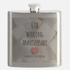 6th Wedding Anniversary Flask