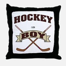 Hockey Boy Throw Pillow