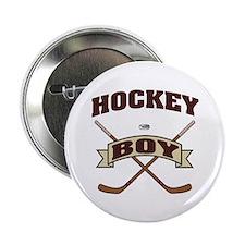 """Hockey Boy 2.25"""" Button"""