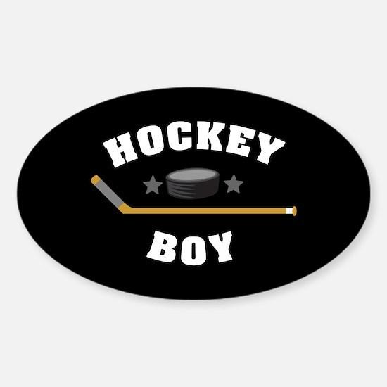 Hockey Boy Sticker (Oval)