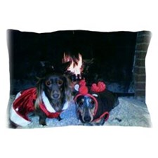 Christmas duo Mag and Nicky 5 Pillow Case