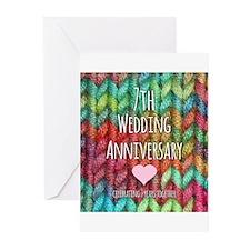 7th Wedding Anniversary Greeting Cards