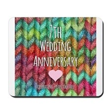7th Wedding Anniversary Mousepad