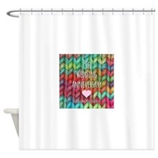 7th Wedding Anniversary Shower Curtain