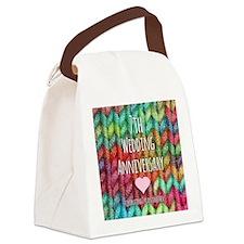 7th Wedding Anniversary Canvas Lunch Bag