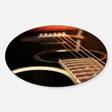 Acoustic Guitar Sticker (Oval)