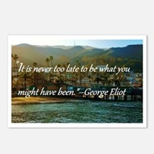 Catalina Pier w/Quote Postcards (Package of 8)