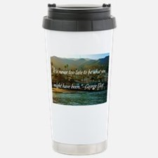 Catalina Pier w/Quote Stainless Steel Travel Mug