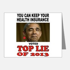 TOP LIAR OBAMA Note Cards