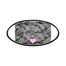 7th Wedding Anniversary Patches