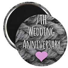 7th Wedding Anniversary Magnets