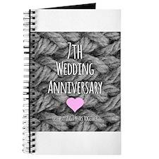 7th Wedding Anniversary Journal