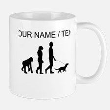 Custom Dog Walking Evolution Mugs