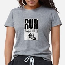 Isaiah 40:31 Run Ash Grey T-Shirt