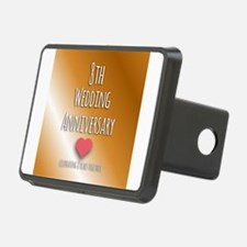 8th Wedding Anniversary Hitch Cover
