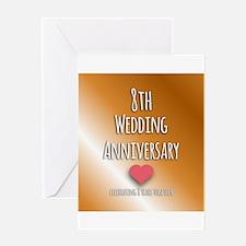 8th Wedding Anniversary Greeting Cards