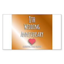 8th Wedding Anniversary Decal