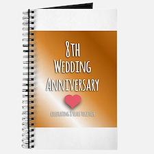 8th Wedding Anniversary Journal