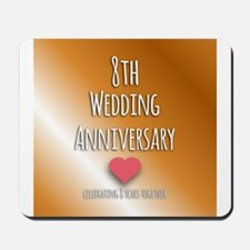 8th Wedding Anniversary Mousepad